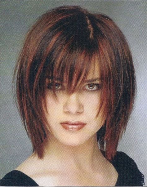 trendy hairstyles for women with long chins long layered bob haircut layered below chin bob haircut