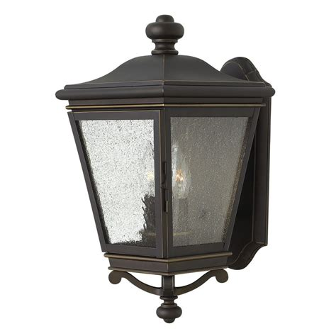 Hinkley Lighting Outdoor Seeded Glass Outdoor Wall Light Rubbed Bronze Hinkley Lighting 2464oz Destination Lighting