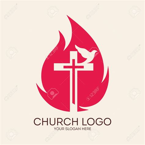 Logo Crooz holy spirit flames 18 stock photo pentecost or