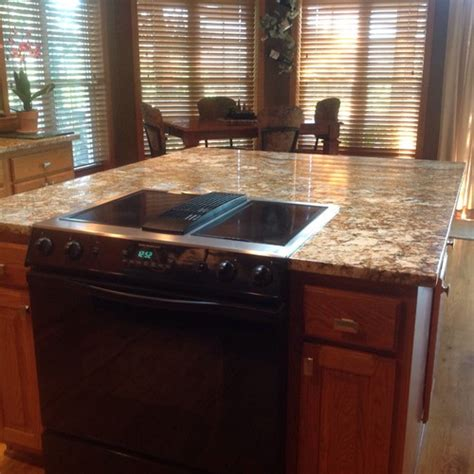 range in kitchen island replacing slide in range with downdraft in kitchen island