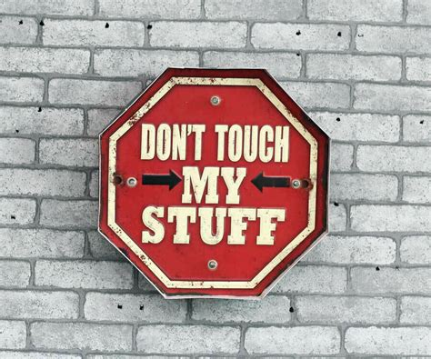 dont touch  stuff vintage led light metal signs