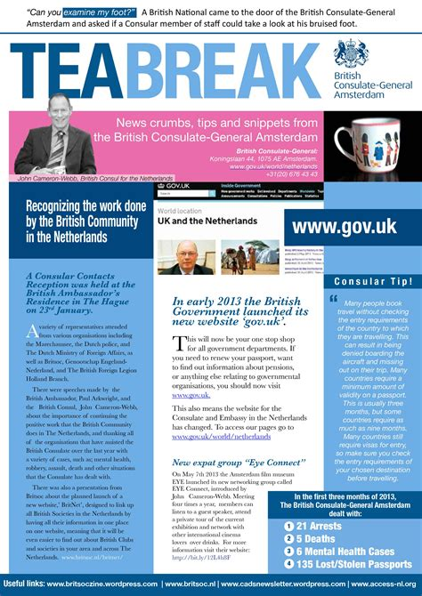 Embassy Newsletter tea the consulate general newsletter