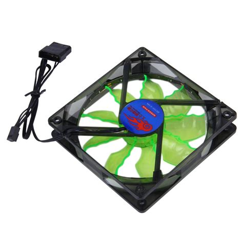 green led computer fan new cool quiet 15 blue green led desktop pc computer