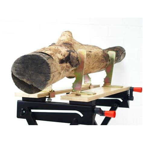 log cutting saw bench saw horse log wood holder clamp jaws fits workmate work