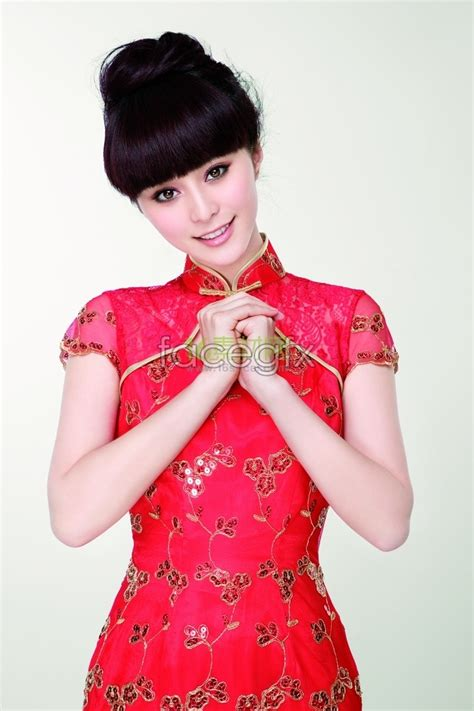 new year cheongsam fan bingbing wear cheongsam new year high definition