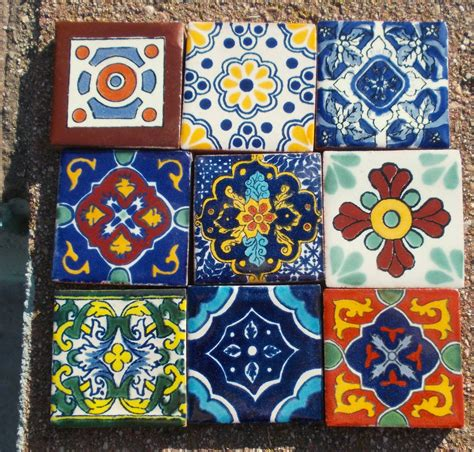 tepupa talavera mexican tile 9 mexican talavera pottery 2 quot clay tile hand painted wall