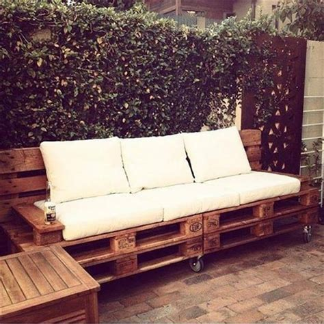 wooden pallet sofa pallet wood sofa on wheels recycled things