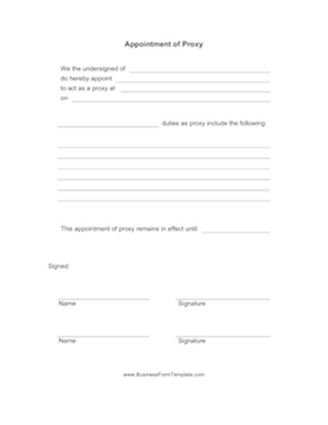 appointment proxy template