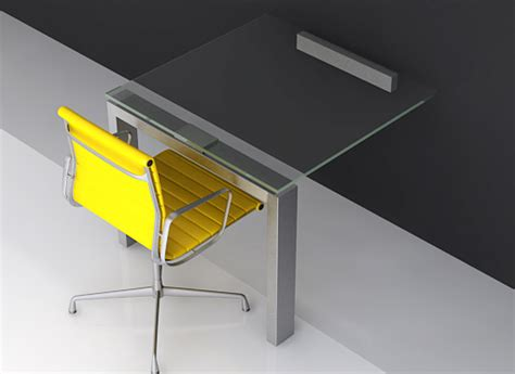 Compact Office Furniture Designer Glass Office Desks