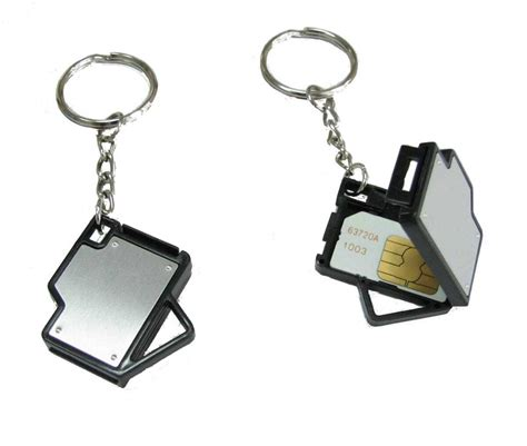 card template key chain key chain with sim card holder collection
