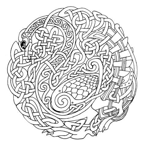 celtic coloring pages bestofcoloring com