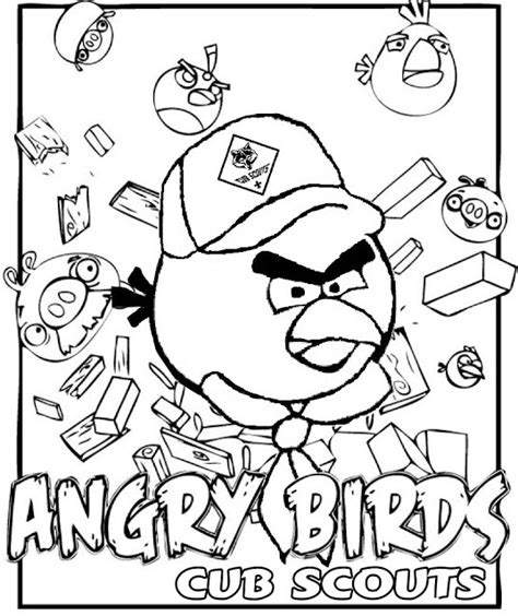 scout coloring pages akela s council cub scout leader angry birds