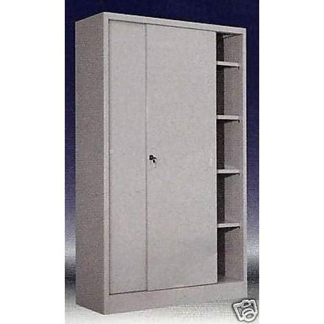 armadio metallo ante scorrevoli armadio in metallo ad ante scorrevoli 180x60x200 grigio