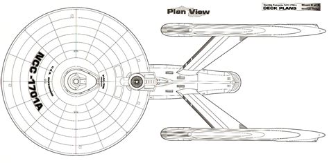 star trek enterprise floor plans dorsal schematic of u s s enterprise ncc 1701 a star