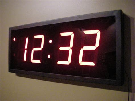 Wall Clock Digital | ethernet digital wall clocks home wall decor