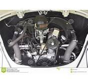 Antique Volkswagen Beetle Engine Editorial Stock Image