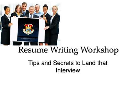 resume writing workshop resume writing workshop