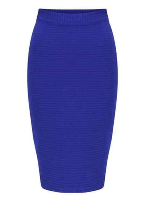 pope skirt royal blue textured midi skirt