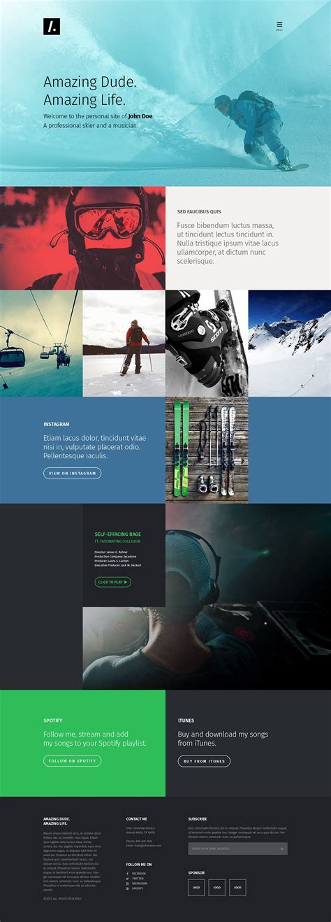 Free Single Page Website Templates Psd 187 Css Author Free One Page Web Page Templates