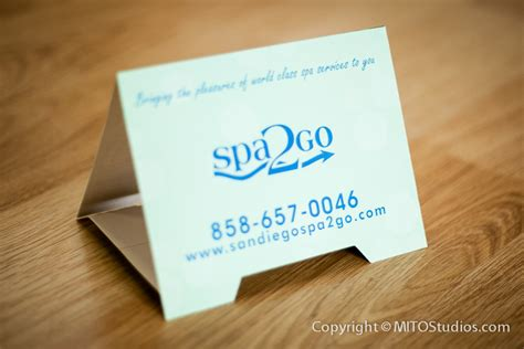 Rooms To Go Gift Card - table tent cards designed for spa2go mito studios mito studios