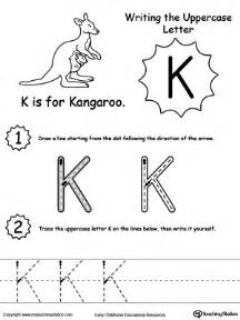 tracing and writing the letter k myteachingstation com