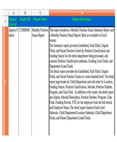 Hr Monthly Report Template Excel