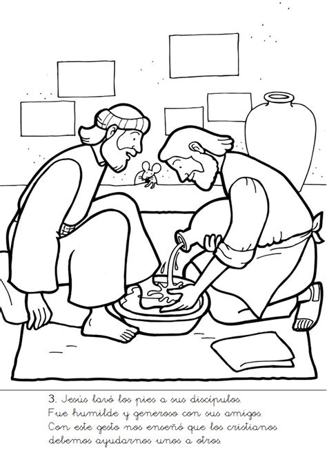 Jesus Washes The Disciples Feet Coloring Page Az Jesus Washes The Disciples Coloring Page
