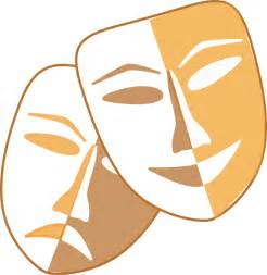 Theater Mask Outline by Theatre Masks Clip At Clker Vector Clip Royalty Free Domain