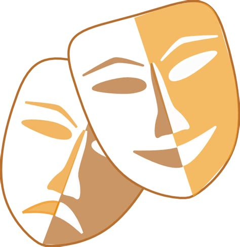 Theatre Mask Clipart theatre masks clip at clker vector clip royalty free domain