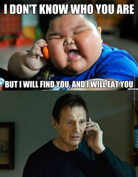 Fat Asian Baby Meme - fat kid calls liam neeson very funny pics