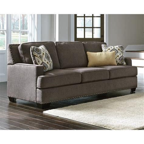 granite sofa ashley barinteen chenille sofa in granite 8100238