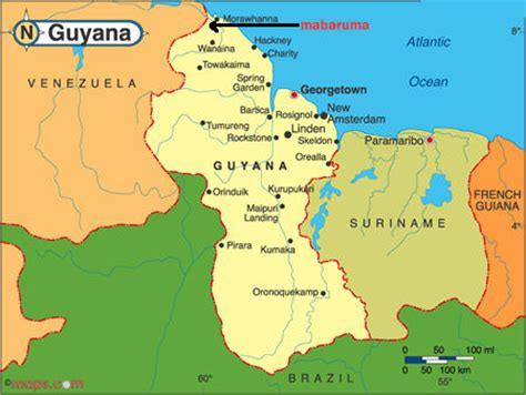 how many towns are there in guyana local attractions