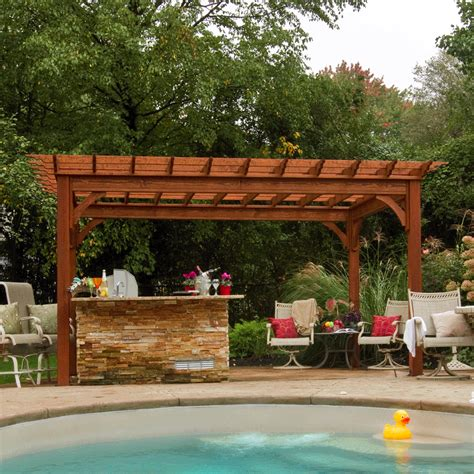 Bayhorse Gazebos Barns Traditional Wood Pergola 10 10 X 10 Pergola