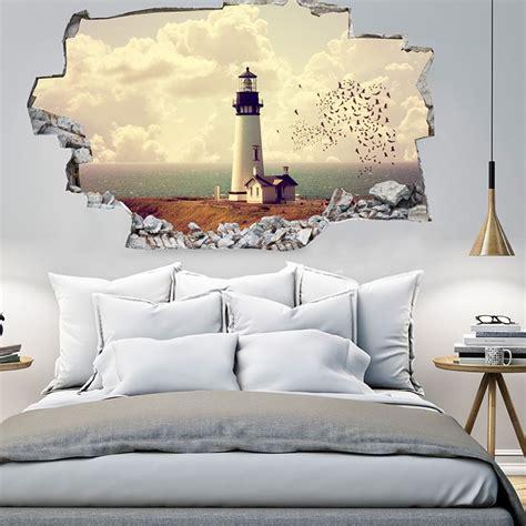 si鑒e mural 3d vinyl wandsticker leuchtturm jetzt reduziert bei lesara
