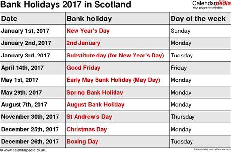 Calendar 2018 Bank Holidays Ireland Bank Holidays 2017 In The Uk