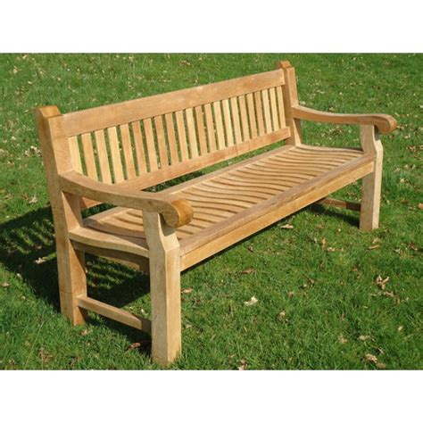 park bench memorial heavy duty teak 1 8m park memorial bench