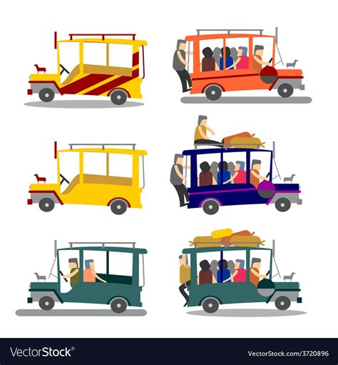 philippines jeepney vector philippine jeepney royalty free vector image vectorstock