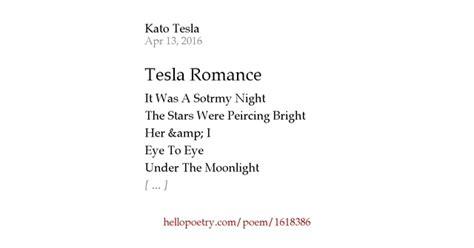 Tesla Poem Tesla By Vyre Kato Hello Poetry