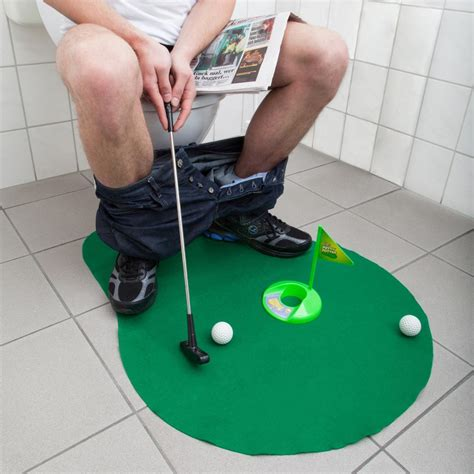 bathroom putting green ultrasport game toilet golf green amazon co uk sports