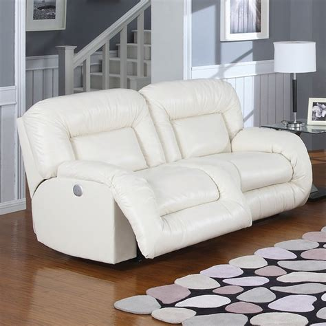 ac pacific bruno bonded leather reclining sofa in
