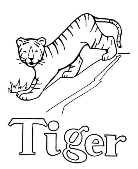 tiger t coloring page letter t coloring pages az coloring pages