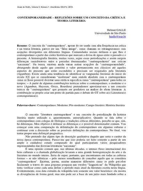 sobre o conceito de contemporaneidade.pdf | Modernismo