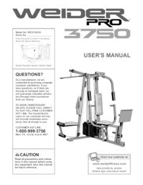 wesy26330 weider pro 3750 exercise machine