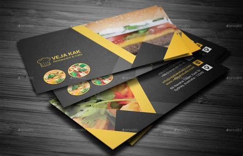 Free Business Cards Templates For Restaurants by Restaurant Business Card By Vejakakstudio Graphicriver