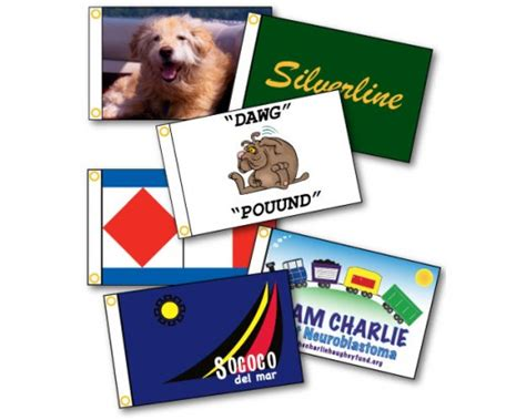 custom printed boat flags design your own full color - Printed Boat Flags