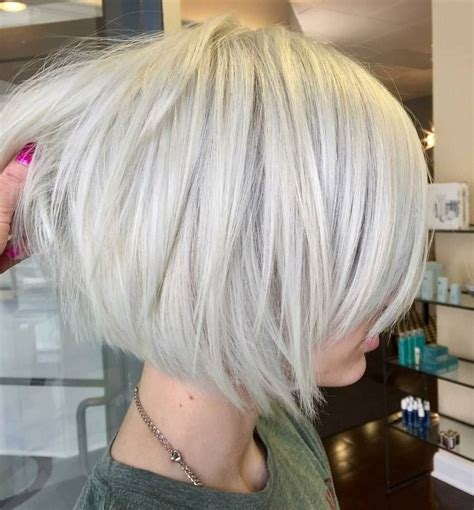 layered angled bob by gia platinum blonde by best 25 modern bob hairstyles ideas on pinterest hair