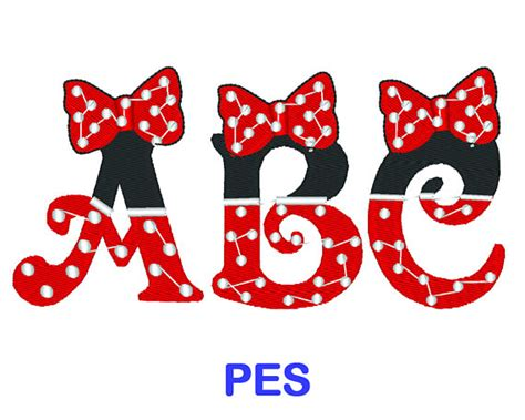 What Is A Bow Window minnie mouse embroidery font disney pes format embroidery