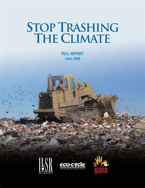 Trashing by Stop Trashing The Climate Zero Waste