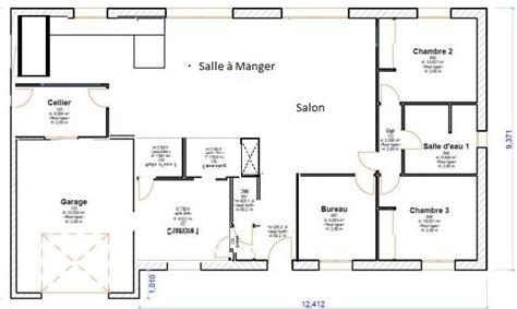 Plan Maison 120m2 Plain Pied 4349 by Plan De Maison Plain Pied 3 Chambres 120m2