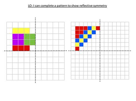 pattern maker ks1 reflective symmetry patterns by robfarmer teaching